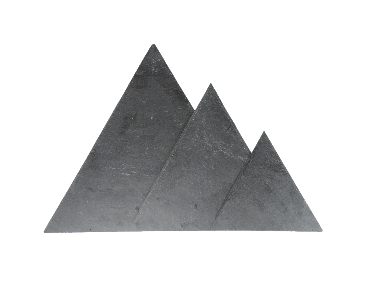 Dreiecke aus Schiefer