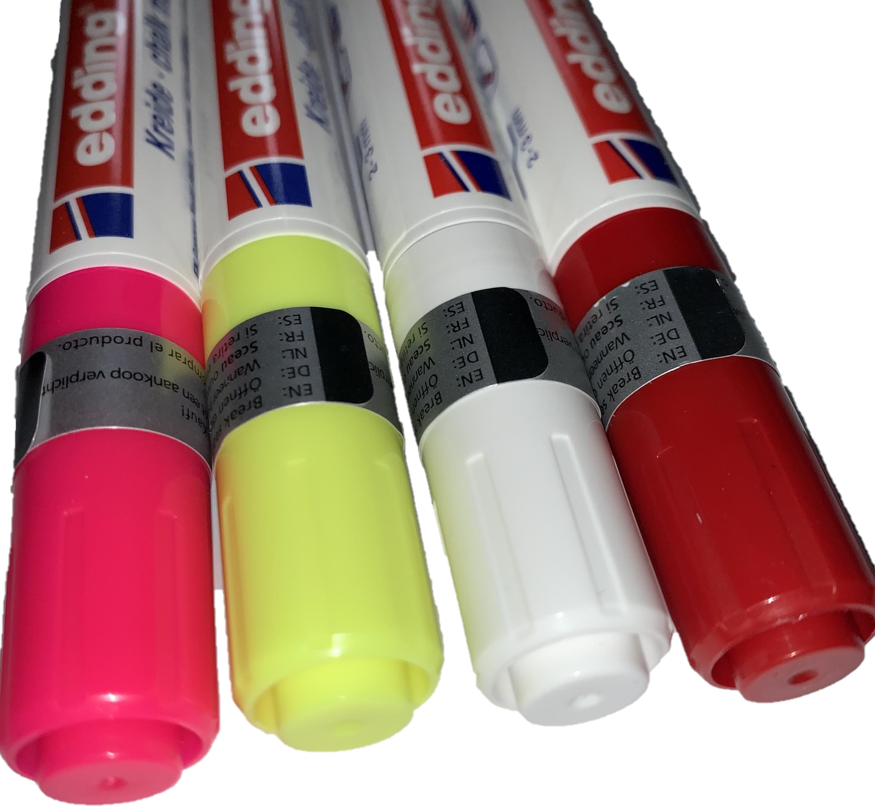 Edding Kreidemarker in verschiedenen Farben