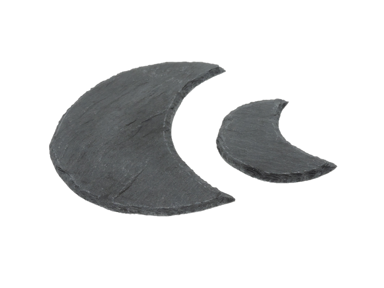 Wohndeko Mond aus Schiefer