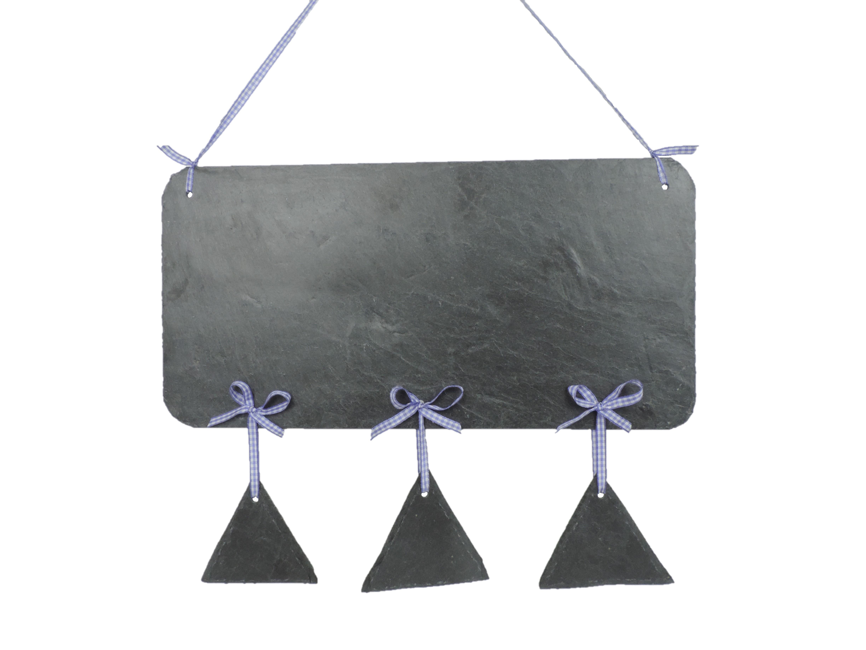 Wohndeko Schieferschild mit 3 Dreiecke