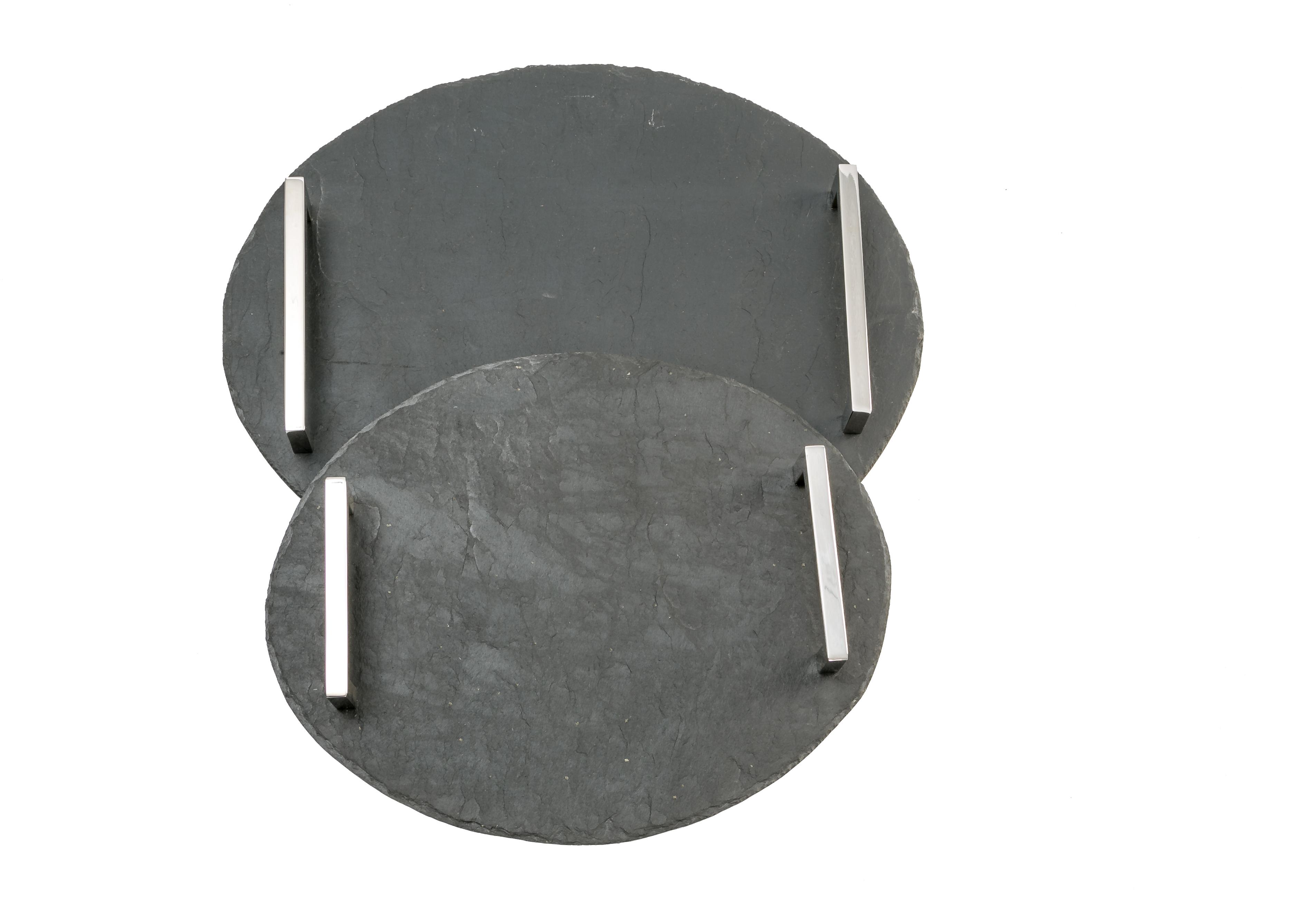 handgefertigte Servierplatte oval